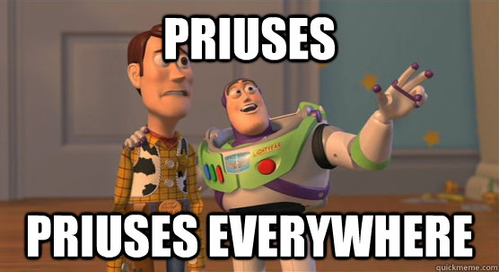 Priuses Priuses everywhere - Priuses Priuses everywhere  Toy Story Everywhere