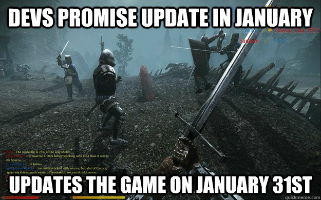Devs promise update in january updates the game on january 31st - Devs promise update in january updates the game on january 31st  Misc