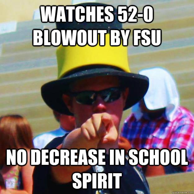 Watches 52 0 Blowout By Fsu No Decrease In School Spirit