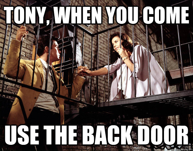 Tony, when you come use the back door  - Tony, when you come use the back door   Misc