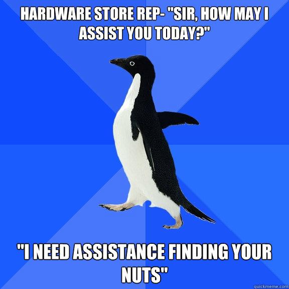 Hardware store rep-