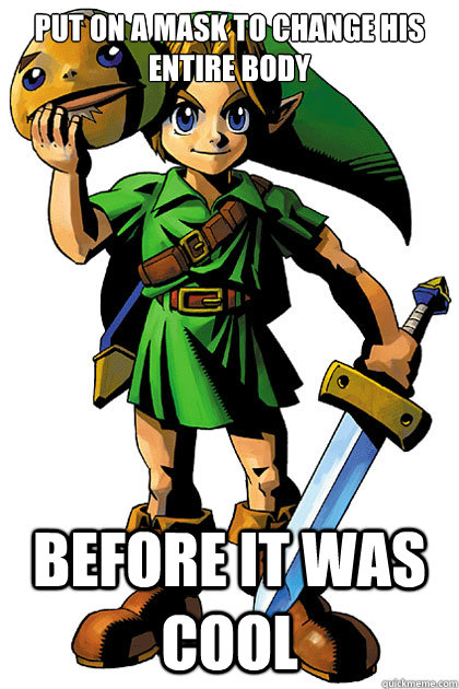Funny Meme Links : Put on a mask to change his entire body before it was cool
