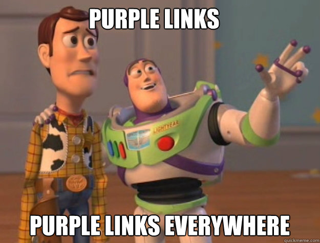 purple links purple links everywhere - purple links purple links everywhere  buzz