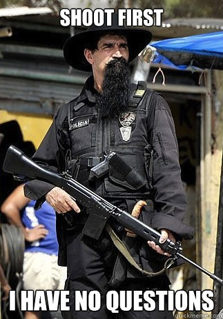 Shoot First I have no questions - Shoot First I have no questions  Badass Bearded Cop