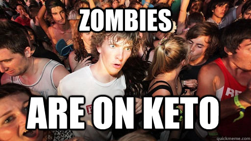 zombies are on keto - zombies are on keto  Sudden Clarity Clarence