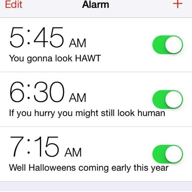 A friend showed me her wake up alarms. -   Misc