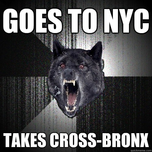 goes to nyc takes cross-bronx - goes to nyc takes cross-bronx  Insanity Wolf