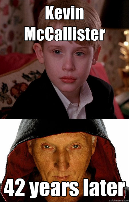 Kevin McCallister 42 years later