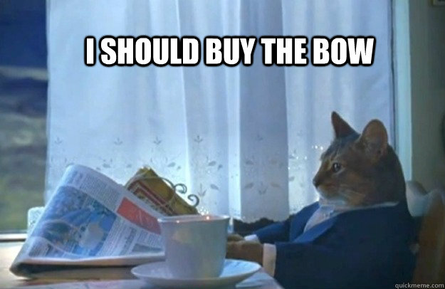 I should buy the bow - I should buy the bow  Sophisticated Cat