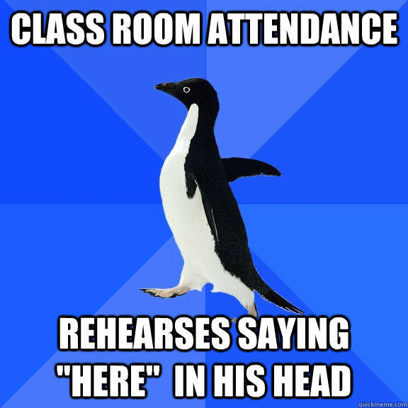 Class room attendance Rehearses saying