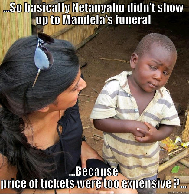 Meanwhile In South Africa So Basically Netanyahu Didn