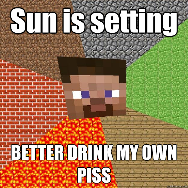 Sun is setting BETTER DRINK MY OWN PISS - Sun is setting BETTER DRINK MY OWN PISS  Minecraft