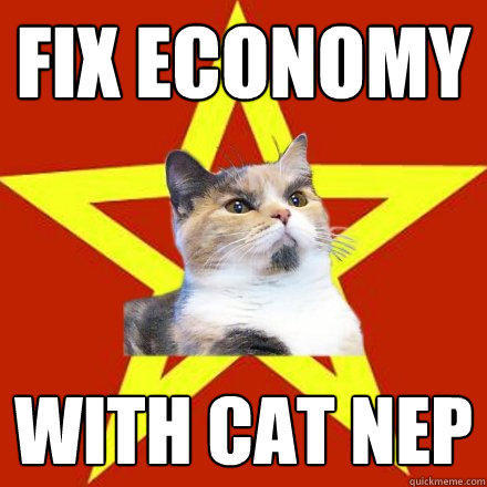 Fix Economy With cat nep - Fix Economy With cat nep  Lenin Cat