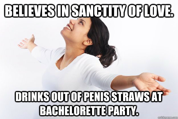 Drinks Out Of Penis Straws At Bachelorette Party