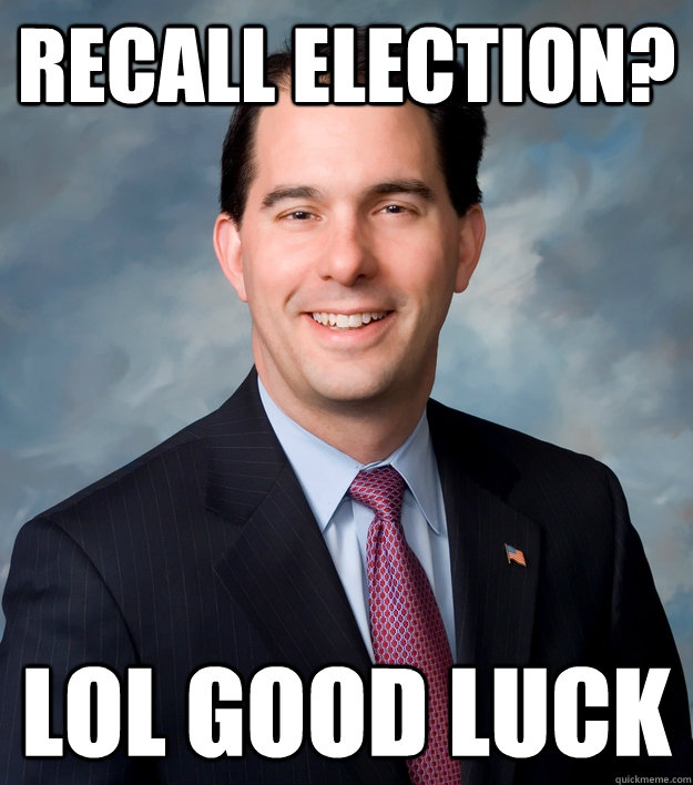 recall election? lol good luck Caption 3 goes here  Scott Walker