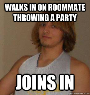 College Guys Throwing A Party